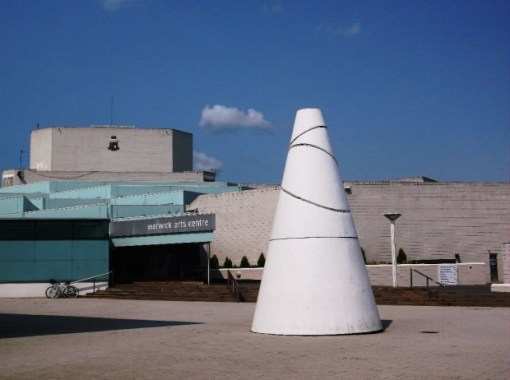 The White Koan by Liliane Lijn outside the Warwick Arts Centre