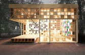 Book Cafe Moscow Park, Russia by Reutemple